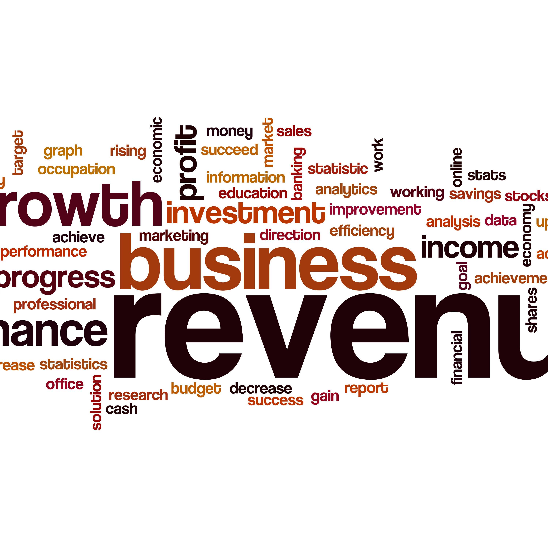 Revenue word cloud